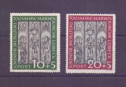 Bund 1951 - Marienkirche Lübeck MiNr. 139/140 Postfrisch - Michel 220,00 € (399) - Unused Stamps