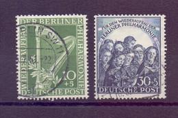 Berlin 1950 - Berliner Philharm.- MiNr. 72/73 Gestempelt - Michel 130,00 € (312) - Used Stamps