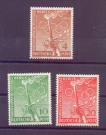 Berlin 1952 - Vor-Olympiade - MiNr. 88/90 Postfrisch** - Michel 30,00 € (052) - Unused Stamps