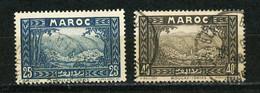 MAROC (RF) - VUE -   N° Yt 135+137 Obli. - Used Stamps