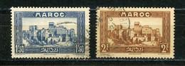 MAROC (RF) - VUE -   N° Yt 144+145 Obli. - Used Stamps