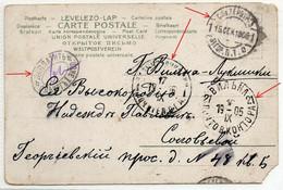 Lithuania Vilno - Lukishki S-Petersburg Postage Due 1905 - Storia Postale