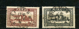 MAROC (RF) - VUE -   N° Yt 133+134 Obli. - Used Stamps