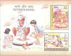 INDIA 2018 Potter's Wheel MINIATURE SHEET 10nos. M/S MNH - Nuevos