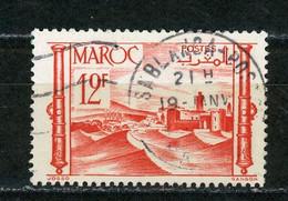 MAROC (RF) - VUE -   N° Yt 139 Obli. RONDE DE CASABLANCA - Used Stamps