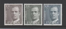 ESPAGNE - Série Courante Juan Carlos Grand Format - 1981 - 3 Valeurs ** - Yvert  2262a / 2263a / 2264 A - 1981-90 Ungebraucht