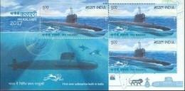 INDIA 2017 I.N.S. Kalvari Submarine Sheetlet 10nos. M/S MNH - Nuevos