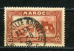 MAROC (RF) - VUE -   N° Yt 140 Obli. RONDE DE VILLE NOUVELLE - Used Stamps