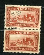 MAROC (RF) - VUE -   N° Yt 140 Obli. EN PAIRE - Used Stamps