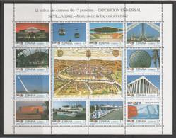 ESPAGNE - Exposition Séville 1992 - 24 Valeurs ** En Deux Feuilles - Yvert  2771 à 2794 - 1991-00 Ungebraucht