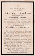 Oorlog 40 45 - STAELENS Livina ° Middelburg (B) 1905- + Eede 1944 (Nl) - Religion & Esotérisme