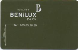 Hotel Benilux Park : Benidorm Espagne - Cartas De Hotels