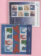 GRÈCE 2002-2003 - 2 Petites Feuilles - Yvert  2106-2109 Et 2129-2132 - Ungebraucht