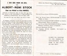 Oorlog 40 45 - Luchtaanval  STOCK Albert ° Ruislede 1917  - + Bad Oldesloe Bij Hamburg (D) 1945 - Religion & Esotérisme