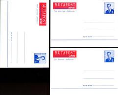 11196841 BE; Mutapost;  3 Cartes Postales, Changement D'adresse, 3 Langues, Français, Néerlandais Et Allemand - Cartes Postales [1951-..]