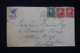 ETATS UNIS - Enveloppe Du Richmond Hôtel De  Washington Pour Londres En 1908 - L 89736 - Briefe U. Dokumente