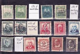 Espagne République Oblit Sauf 736 N* Avec Variété Et Surcharges - 1931-50 Usados