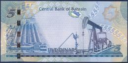 BAHRAIN 5 DINAR P-27 SHEIKH ISA HOUSE, MUHARRAQ, RIFFA FORT - OIL PUMP 2006 UNC - Bahrain