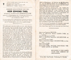 Oorlog 40 45 -THIEL Edmond Veldwachter - Westkapelle 1874  + 944 - Religion & Esotérisme