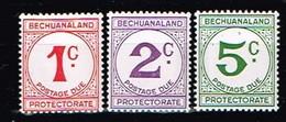 BECHUANALAND / Neufs**/MNH**/ 1961 - Timbre-Taxe / YVT N°12/14 - MI N°10/12 - 1965-1966 Interne Autonomie