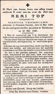 Oorlog 40 45 - TOP Remi   ° Houtem Veurne 1882 - + Bulskamp 1940 - Religion & Esotérisme