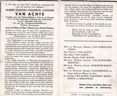 Oorlog 40 45 - Kamp - VAN ACHTE Hubert ° Gent 1925 + Wolffenbuttel 1945 - Religion & Esotérisme