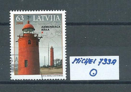 LETTLAND MICHEL 733 A Gestempelt Siehe Scan - Lettonie