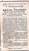 Oorlog 40 45 - Bom - TOURNOY Achiel ° Zerkegem 1919  + Hagen ( Westfalen) 1944 - Religion & Esotérisme