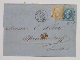 Letter - Paris 27 Aout 66 -> Monchaltorf Empire Franc 20 C Postes - Unclassified