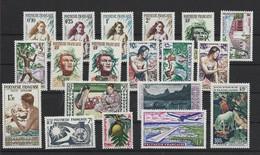 POLYNESIE ANNEE COMPLETE 1958/60 XX MNH Neuf ** + PA - Full Years