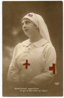 1914-18.infirmière Croix-Rouge. Noble Femme,soyez Bénie Et Que Le Ciel Veille Sur Vous ! - Croix-Rouge
