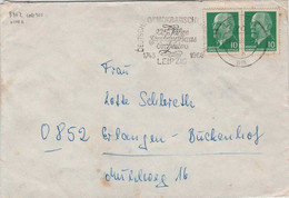 Allemagne Démocratique Michel 846 Z O En Paire Sur Lettre Du 24.4.1968 Leipzig 225 Ans Orchestre Philharmonique - Cartas