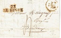 Le Bugne 23 Dordogne Lettre Du 25 Novembre 1830 Pour Bordeaux - 1801-1848: Précurseurs XIX