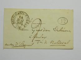 Lettre Timbre à Date TAD 13 Avec Décime Rural  Neufchatel En Bray Normandie - 1801-1848: Précurseurs XIX