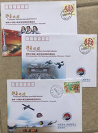 China Space 2013 Shenzhou-10 Manned Spaceship Launch Control, Docking, Landing Covers X3, Women Astronaut - Asia