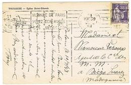 CPA  ADRESSEE A DIEGO-SUAREZ MADAGASCAR - 1921-1960: Modern Tijdperk