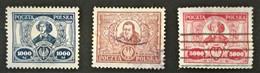 1923 Kupernikus,Konarski Mi. 182 - 184 - Used Stamps