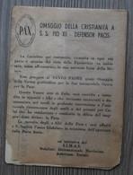 RARE - VATICAN 1947 - Hommage De La Chrétienté Au Pape PIE XII, Défenseur De La PAIX ... Pochette Et 3 Cartes Attenantes - Errors & Oddities