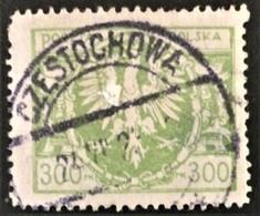1921 Großer Adler Auf Schild Mi.177 Mit Zentrisch Stempel CZESTOCHOWA - Used Stamps