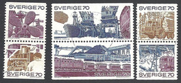 Schweden, 1970, Michel-Nr. 683-688, Gestempelt - Gebraucht