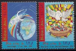 2006 UNO Genf Mi. 551-2**MNH  Weltfriedenstag: Mein Traum Vom Frieden - Nuevos