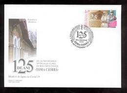 Moldova 2021 Medicine Fight Against COVID-19 Hospital For Infections Diseases T.Ciorba  FDC Perfect Postmark! - Moldavia