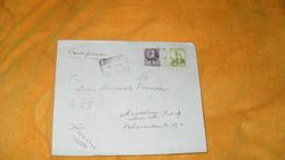 ENVELOPPE ANCIENNE DE 1934.../. DEPART ESPAGNE CACHET CERTIFICA POUR MAGDEBURG ALLEMAGNE + TIMBRES X2 - 1931-50 Cartas