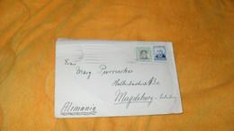 ENVELOPPE ANCIENNE DE 1934 ?.../. DEPART ESPAGNE CACHETS POUR MAGDEBURG ALLEMAGNE + TIMBRES X2 - 1931-50 Cartas