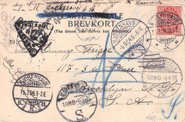 DENMARK - PICTURE POSTCARD 1904 > BROOKLYN/USA /QC27 - Lettres & Documents