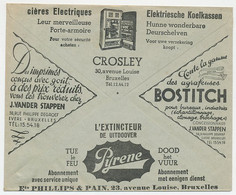Postal Cheque Cover Belgium 1936 Refrigerator - Stapler - Extinguisher - Car - Opel - Non Classés