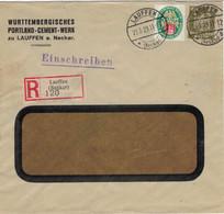 [A5] Württembergisches Portland-Cement-Werk Lauffen Neckar - Nothilfe Mecklenburg - Neuer Reichsadler 1929 - Zement Reco - Cartas