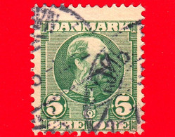 DANIMARCA - Danmark - Usato - 1905 - Re Christian IX - 5 - Oblitérés