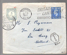 Woolwich 1946 'Suspended Owing To Insufficient Postage Prepaid,   3 Pence..' > Jan Evertstraat 's-Gravenhage (FI-17) - Postage Due
