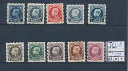 BELGIUM COB 211/219 MNH - 1921-1925 Petit Montenez